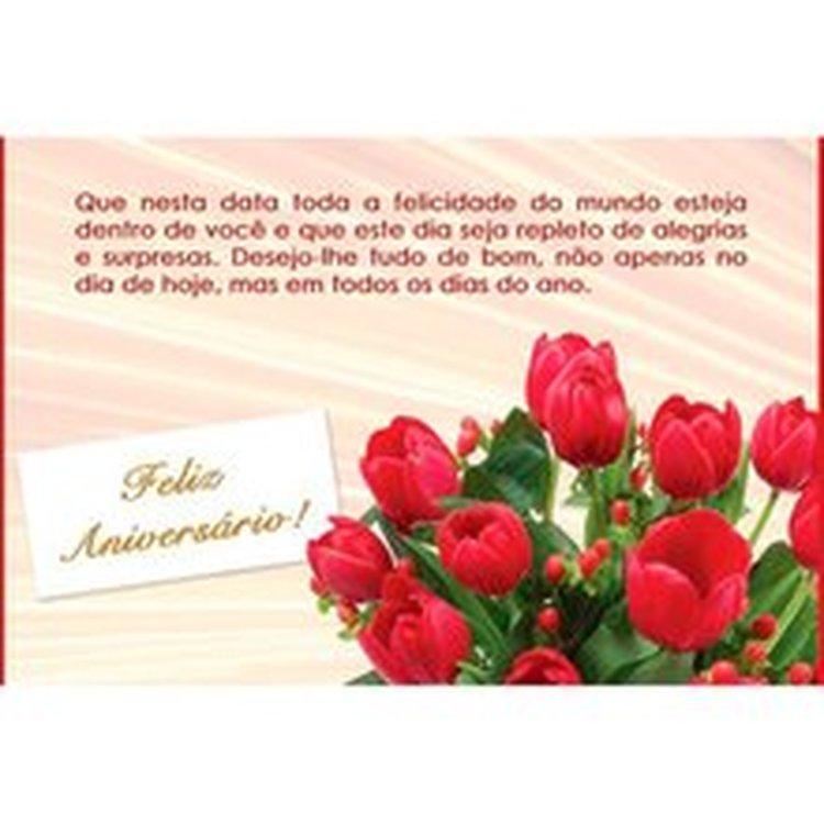 Cartão Tulipas Feliz Aniversário
