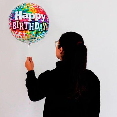 Balão Aniversário Arco Iris