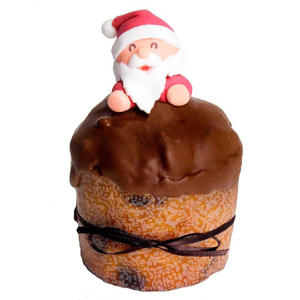 Mini Panettone Gotas de Chocolate com Papai Noel