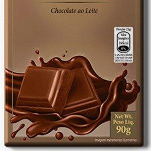 Barra de chocolate ao leite com doce de leite