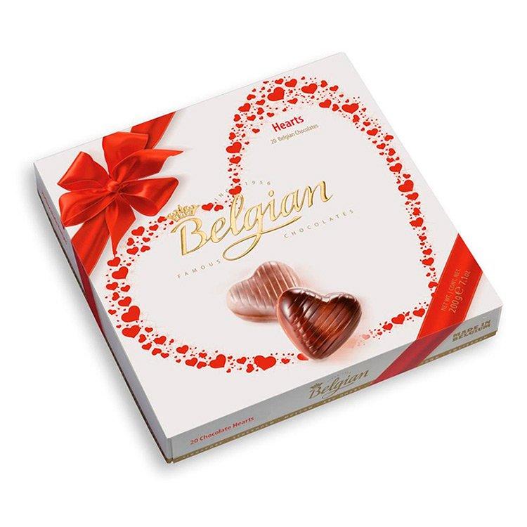 Caixa De Bombons Belgian Hearts 200g