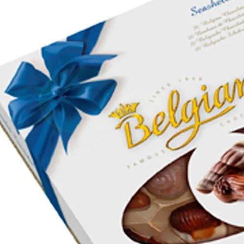 Bombons Belgians Seashells Blue Ribbon 250g
