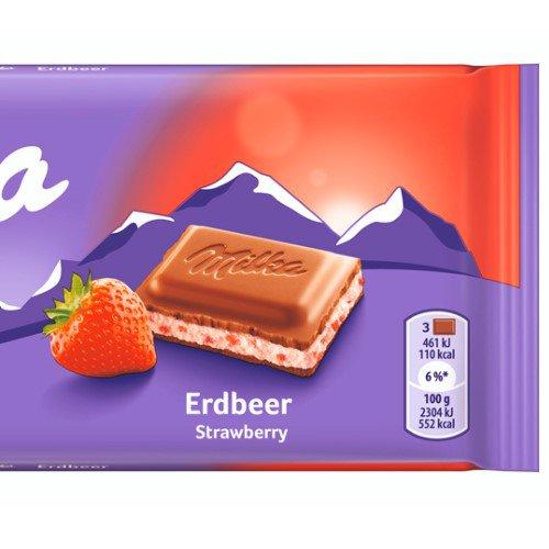 Barra de Chocolate Milka Strawberry