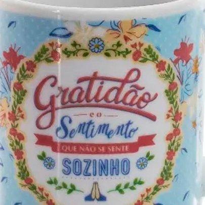 Caneca de Porcelana Gratidão