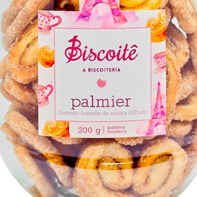 Biscoito Francês de Massa Folhada Palmier