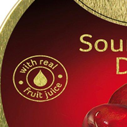 Bala Sour Cherry Drops de Cereja em Lata