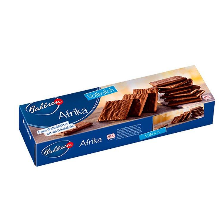 Biscoito Wafer Balhsen Afrika Coberto por Chocolate