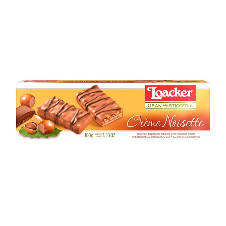 Biscoito Italiano Loacker de Creme de Avelã