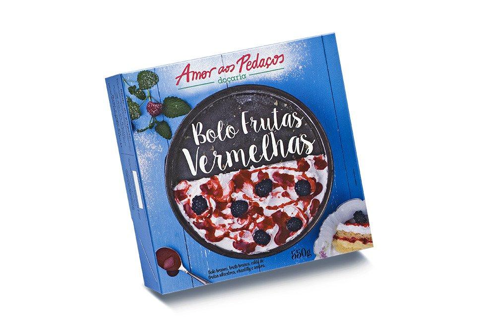 Bolo de Frutas Vermelhas Amor aos Pedaços 550g - Delícia Congelada