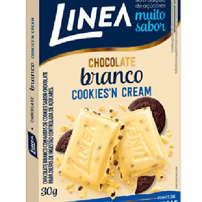 Barra de Chocolate Branco Cookies'n Cream Línea 30g