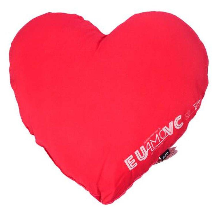 Almofada Mega Coração Eu amo vc Uatt