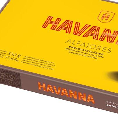 Caixa de Alfajores Havanna Chocolate Clássico