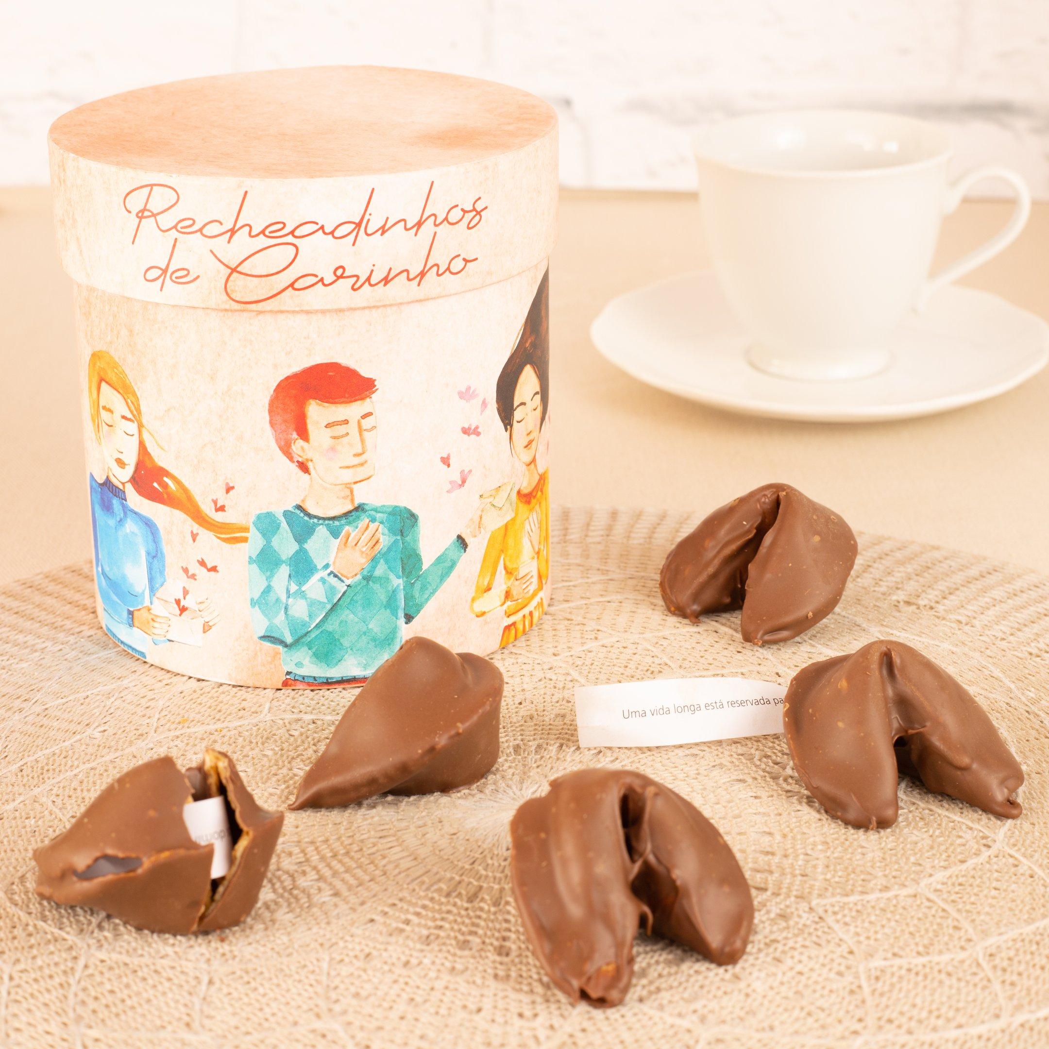 Lata Biscoito Da Sorte Recheado de Carinho