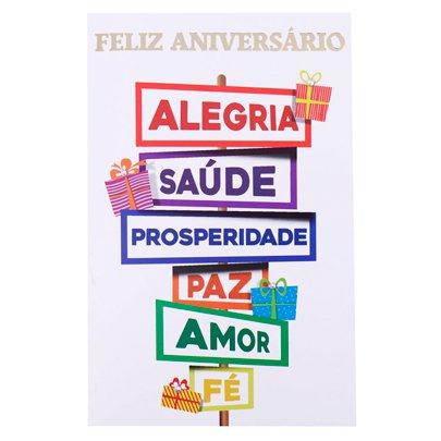 Cartão Desejos de Feliz Aniversário