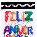 Cartão Dedicatória de Feliz Aniversário