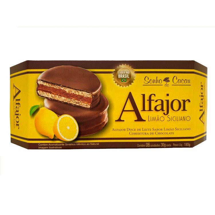 Alfajor Limão Siciliano Sonho de Cacau 180g
