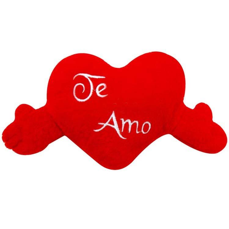 """Coração de Pelúcia """"Te Amo"""""""