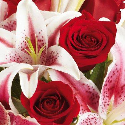 Rosas e Lírios no Vaso