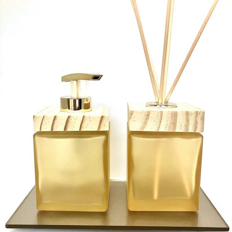 Kit Lavabo Cube Amarelo Fosco