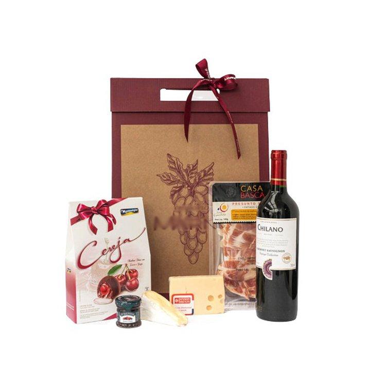 Kit Vinho Chocolate e Frios
