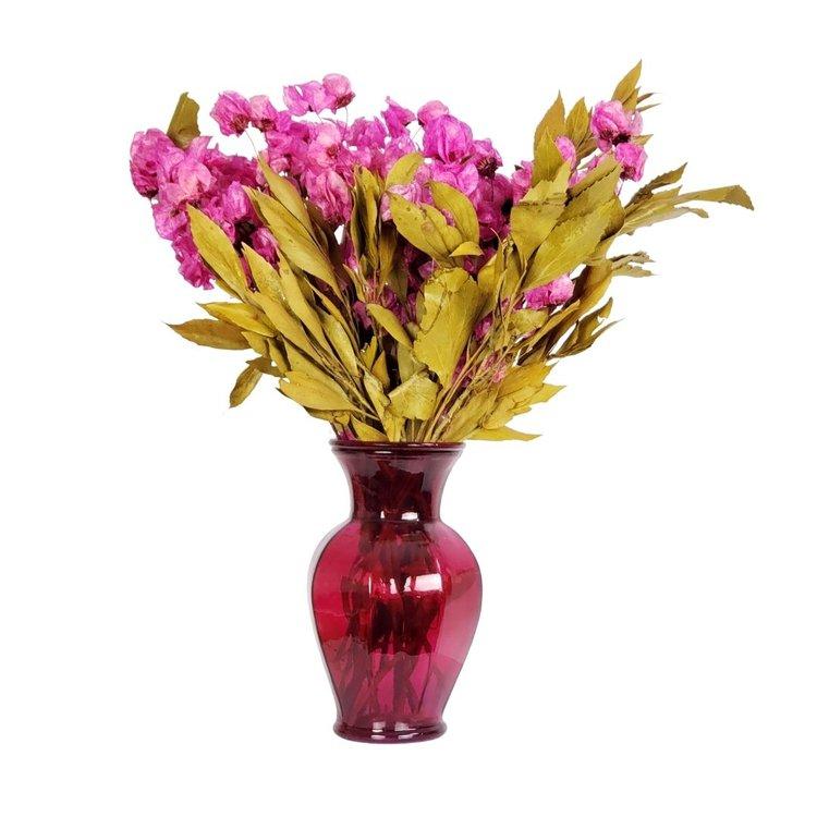 Arranjo Desidratado Flora Intensa + Vaso Rosa