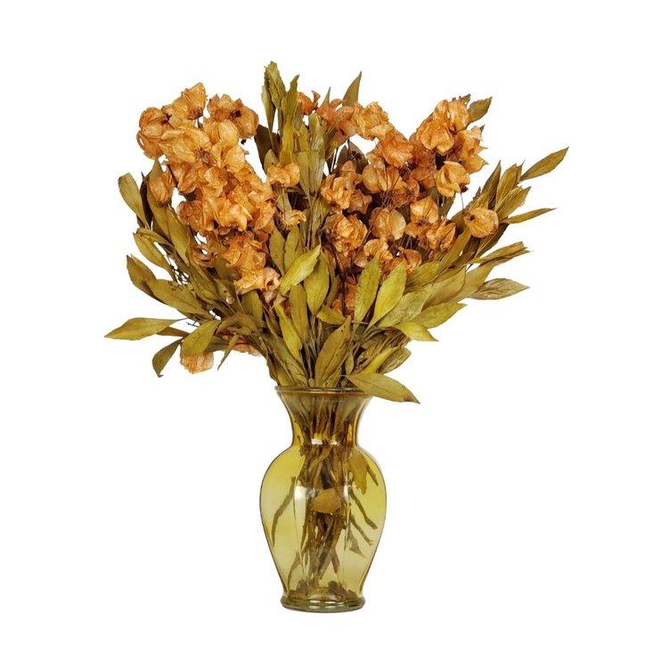 Arranjo Desidratado Flora Intensa + Vaso Amarelo
