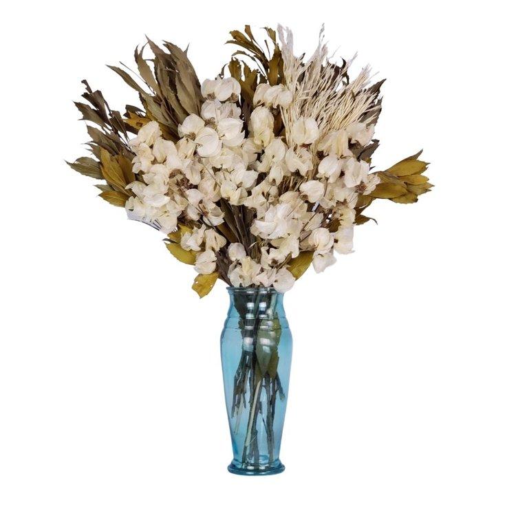 Arranjo Desidratado Flora Intensa + Vaso Azul