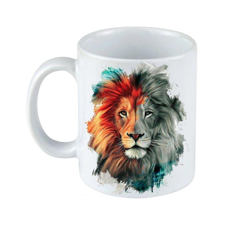 Caneca Porcelana  Leão