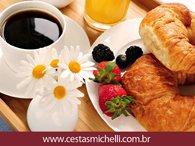Miniatura de Foto de Tela de Fundo de Cestas de Café da Manhã